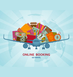 Online booking flat concept vector