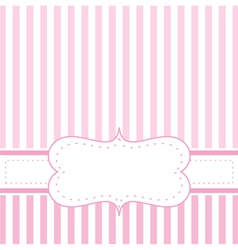 Pink strips valentines card or wedding invitation vector
