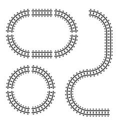 railway tracks construction elements vector image