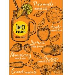 Restaurant cafe menu template design vector image vector image