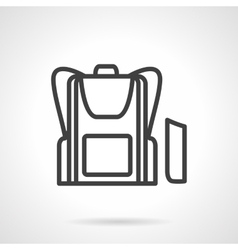 School bag simple line icon vector image