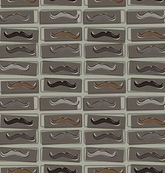 Seamless pattern with hipster mustache vector