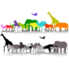 Silhouette of safari animal wildlife vector