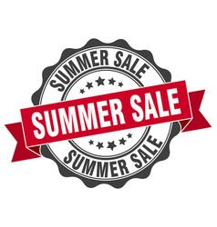summer sale stamp sign seal vector image
