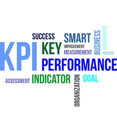 Word cloud kpi vector