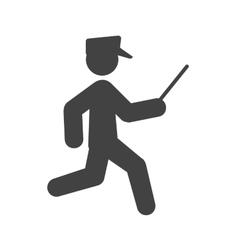 Running Cop vector image