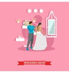 Wedding shop interior - vector