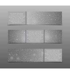 Set horizontal grey banners new year christmas vector