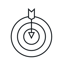 target arrow isolated icon vector image