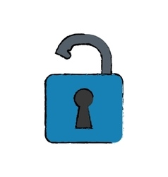 Padlock security system vector image