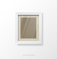 Modern white frame vector image