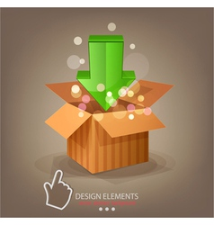 icon download and cursor vector image