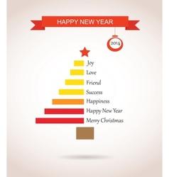 christmas tree made like bar chart with greetings vector image