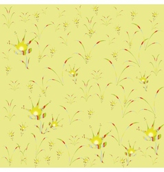 Floral background yellow motley childhood vector