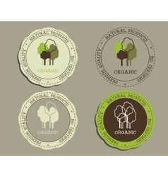 Organic logo templates and badges for natural vector