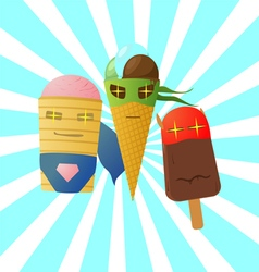 Super ice cream vector