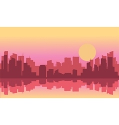 Silhouette of a beautiful city vector
