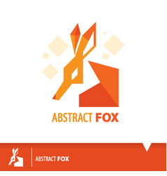 Abstract fox icon symbol vector