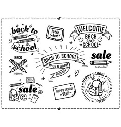 Back to school design typographic quotes vector