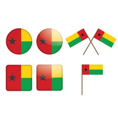 badges with flag of Guinea-Bissau vector image vector image