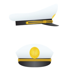 captain hat vector image vector image