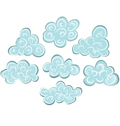 Cartoon clouds vector image