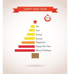 christmas tree made like bar chart with greetings vector image