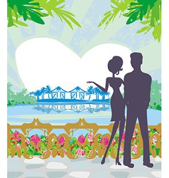 couple on tropical vector image vector image