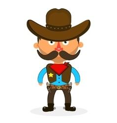 cowboy sheriff pistol vector image