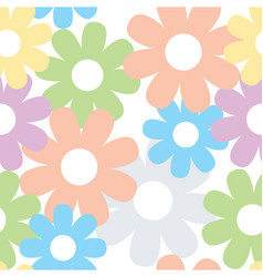 Daisy floral seamless design pattern vector