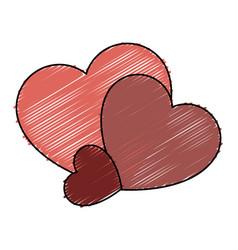 Heart love card isolated icon vector