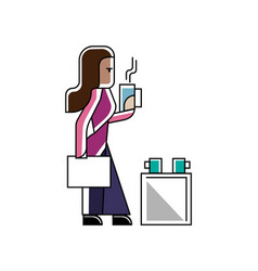 Indian businesswoman with business documents vector