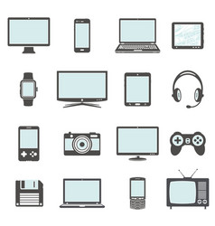 modern digital devices and electronic gadgets vector image