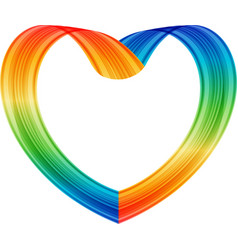 multicolored heart vector image