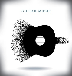 Note Guitar vector image vector image