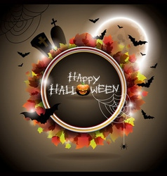 on a Halloween theme with moon vector image vector image