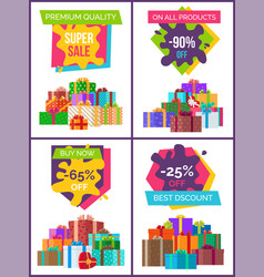 premium quality special price offer set of posters vector image vector image