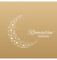 Ramadan greetings background luxury gold vector