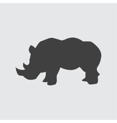 Rhinoceros icon vector image vector image