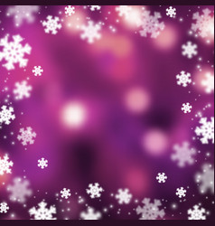 Snowflakes christmas abstarct background vector