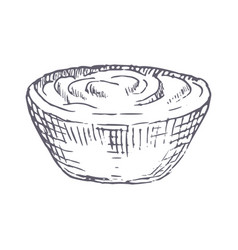 sour cream hand drawn vector image vector image