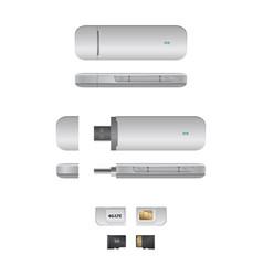 Usb modem 4g vector