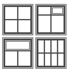 window icon set sign symbol vector image