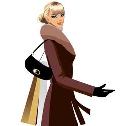 winter shopping vector image vector image