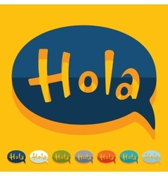 Flat design hola vector