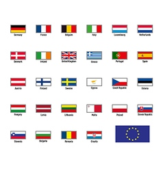 Highly detailed flags of the european union vector