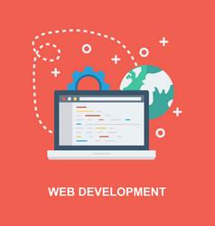 Web development concept design vector