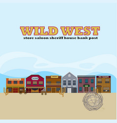 Wild west landscape template vector