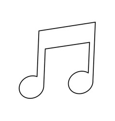 Music note melody sound line vector
