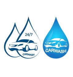 car wash symbol set vector image